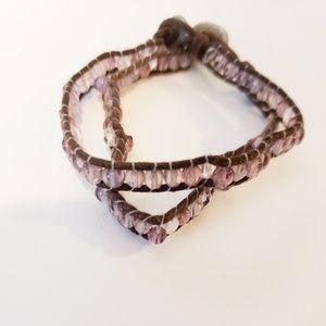 AE Purple Beaded Bracelet Set
